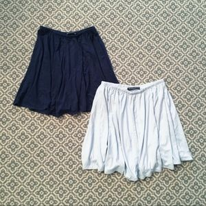 Two (2) Brandy Melville Suede Skirts